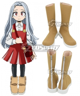 My Hero Academia Boku no Hero Akademia Eri Daily Brown Shoes Cosplay Boots