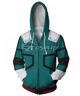 My Hero Academia Boku No Hero Akademia Izuku Midoriya Deku Coat Hoodie Cosplay Costume