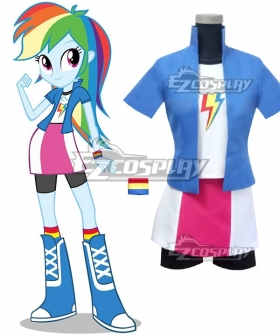 My Little Pony Equestria Girls Rainbow Dash Cosplay Costume