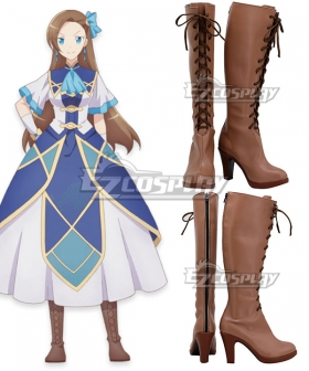 My Next Life as a Villainess: All Routes Lead to Doom! Otome Gēmu no Hametsu Furagu Shika Nai Akuyaku Reijo ni Tensei Shiteshimatta Katarina Claes Brown Shoes Cosplay Boots