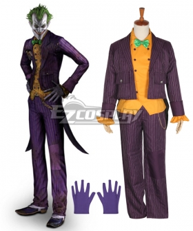 DC Comics Batman: Arkham Asylum Joker Cosplay Costume