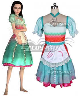 Alice: Madness Returns Alice Under Water Siren Cosplay Costume