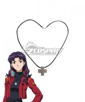 Neon Genesis Evangelion EVA Misato Katsuragi Necklace Cosplay Accessory Prop