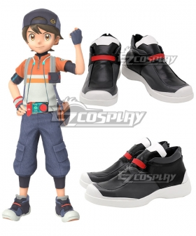 New Pokemon Snap Main Male Character Black Cosplay Shoes