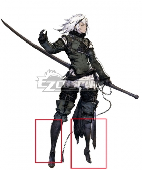 NieR Replicant ver.1.22474487139… Nier Black Shoes Cosplay Boots
