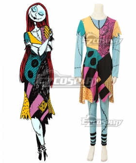 Nightmare Before Christmas Sally Halloween Cosplay Costume