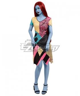 Nightmare Before Christmas Sally Halloween Dress Cosplay Costume