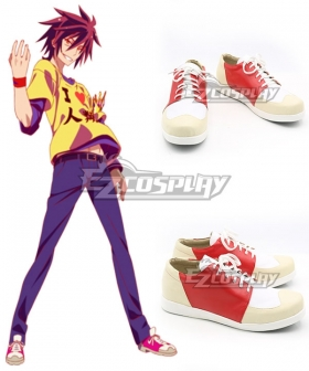 No Game No Life Sora Red Cosplay Shoes