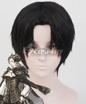 Octopath Traveler Cyrus Albright Black Cosplay Wig