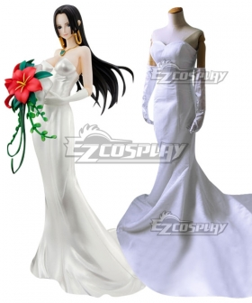 One Piece Boa Hancock Wedding Dress Cosplay Costume