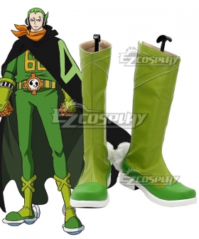One Piece  Germa 66  Vinsmoke Yonji Green Shoes Cosplay Boots