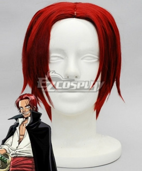 One Piece Red-Haired Shanks Red Cosplay Wig