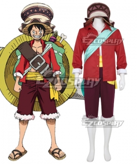 One Piece: Stampede 2019 Movie Monkey D Luffy Cosplay Costume , Special Price $53.99 (Regular Price $157.99)