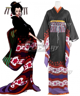 One Piece Wano Country Arc Nico Robin Kimono Cosplay Costume