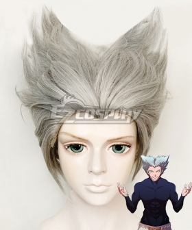 One Punch Man Season 2 Garou Silver White Cosplay Wig