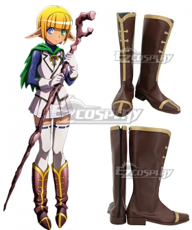 Overlord Mare Bello Fiore Brown Shoes Cosplay Boots