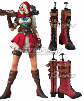 Overwatch Anniversary 2020 Ashe Little Red Brown Shoes Cosplay Boots