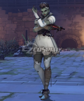 Overwatch OW Bride Sombra Skin Halloween Cosplay Costume