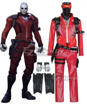 Overwatch OW Soldier 76 Red Halloween Immortal Skin Cosplay Costume