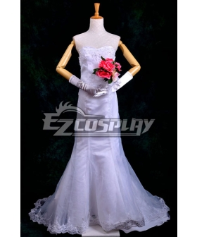ONE PIECE Boa Hancock Wedding Dress Cosplay Costume Deluxe-P4