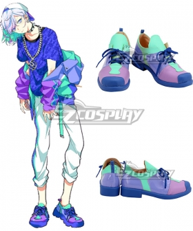 Paradox Live Cozmez Kanata Yatonokami KANATA Purple Green Cosplay Shoes