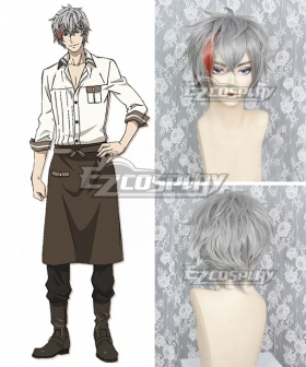 Phantom In The Twilight Luke Bowen Gray Red Cosplay Wig