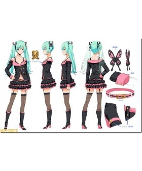Vocaloid Project Diva F Sweet Devil Miku Cosplay Boots