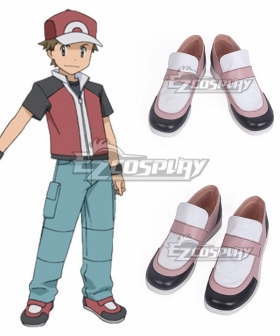 Pokémon Champion Red Black Red Cosplay Shoes