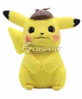 Pokémon Detective Pikachu 2019 Movie Pikachu Plush Doll Cosplay Accessory Prop