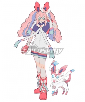 Pokemon Pokémon Sword and Pokémon Shield Sylveon Personification Jumpsuit Cosplay Costume