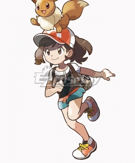 Pokemon Pokémon: Let's Go, Pikachu! Pokémon: Let's Go, Eevee! Female Trainer Elaine Cosplay Costume