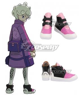 Pokemon Pokémon Sword And Shield Bede Black Purple White Cosplay Shoes