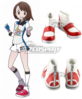 Pokemon Pokémon Sword And Shield Female Trainer Challenger White Cosplay Shoes