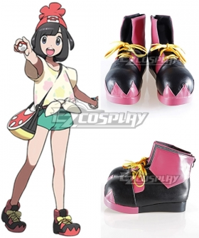 Pokemon Sun and Moon Heroine Red Cosplay Shoes