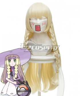 Pokemon Sun and Moon Lillie Golden Cosplay Wig