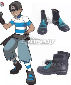 Pokemon Team Aqua Grunt Male Female Black Cosplay Shoes