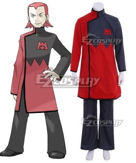 Pokemon Team Magma Leader Maxie Cosplay Costume