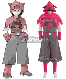 Pokemon Team Magma Male Cosplay Costume