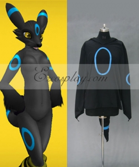 Pokemon Pocket Monster Umbreon Hoodie Jacket Cosplay Costume
