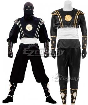 Power Rangers Black Ninja Ranger Black Ninjetti Ranger Cosplay Costume