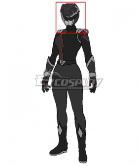 Power Rangers HyperForce HyperForce Black Helmet 3D Printed Cosplay Accessory Prop