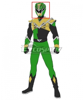 Power Rangers HyperForce HyperForce Green Helmet 3D Printed Cosplay Accessory Prop
