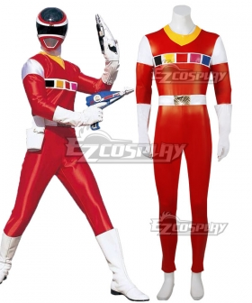 Power Rangers In Space Red Space Ranger Cosplay Costume
