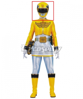 Power Rangers Megaforce Megaforce Yellow Helmet Cosplay Accessory Prop