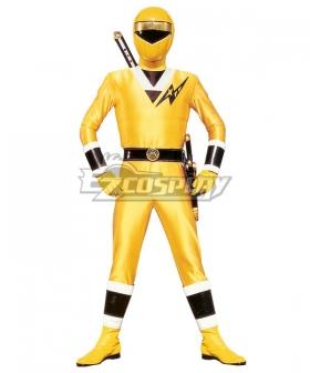 Power Rangers Ninja Sentai Kakuranger NinjaYellow Cosplay Costume