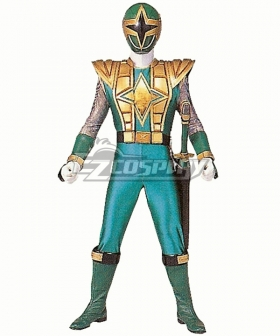Power Rangers Ninja Storm Green Samurai Ranger Cosplay Costume