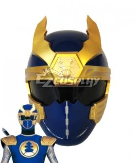 Power Rangers Ninja Storm Navy Thunder Ranger Helmet 3D Printed Cosplay Accessory Prop