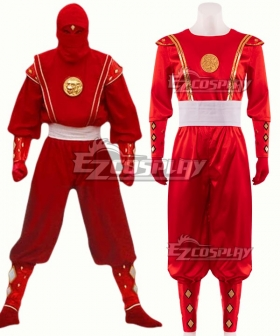 Power Rangers Red Ninjetti Ranger Red Ninja Ranger Cosplay Costume