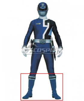 Power Rangers S.P.D. SPD Blue Ranger Blue Shoes Cosplay Boots