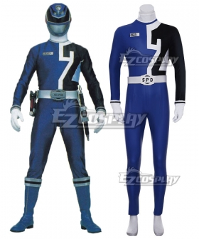 Power Rangers S.P.D. SPD Blue Ranger Cosplay Costume